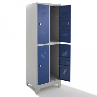 Vestiaire bi-place - semi monobloc - 4 cases H180