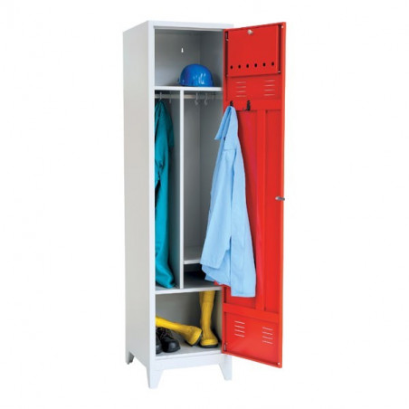 Vestiaire pompier, 2 cases, H205xL97xP55cm